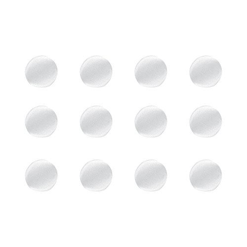 ButtonMode BU163DWH Fabric Covered Satin Trim Buttons, Fabric Shank Back, White Color, 10mm 12-Pack (Shank Covered)
