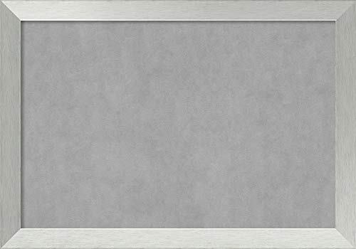 Amanti Art Extra Large, Outer Size 40 x 28 Brushed Sterling Silver Framed Magnetic Boards, 36x24 ()