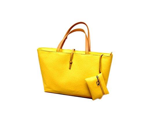 Femme Portés Bandoulière À Sac Sacs Jaune jaune Main Pour Épaule Shopping dYqYp8