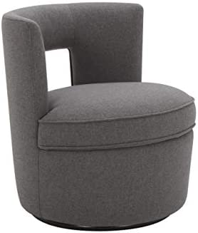Rivet Slade Contemporary Living Room Accent Swivel Chair, 27 W, Sunday Graphite