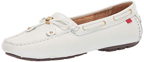 MARC JOSEPH NEW YORK Women's Cypress Hill Driving Style Loafer, White Grainy, 8 M US