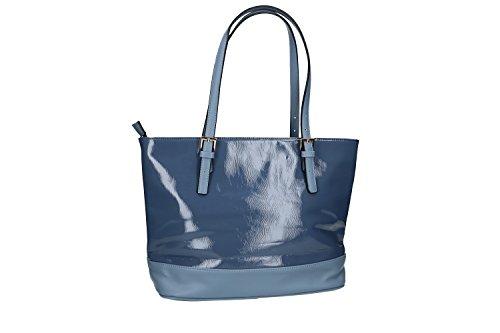 Borsa donna modello shopping a spalla Renato Balestra linea Clash 119-1 jeans