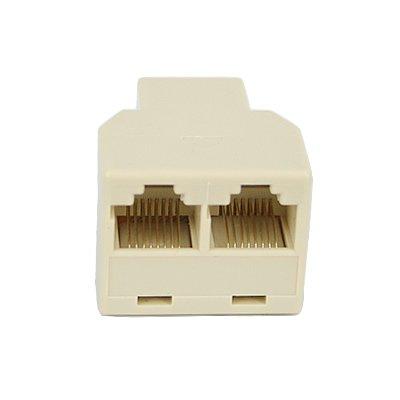 HDE RJ45 1 to 2 Dual Port CAT 5/CAT 6 LAN Ethernet Socket