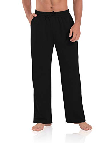 Agnes Urban Men's Joggers Sweatpants Open Bottom Straight Leg Casual Loose Fit Running Athletic Jersey Pants with…