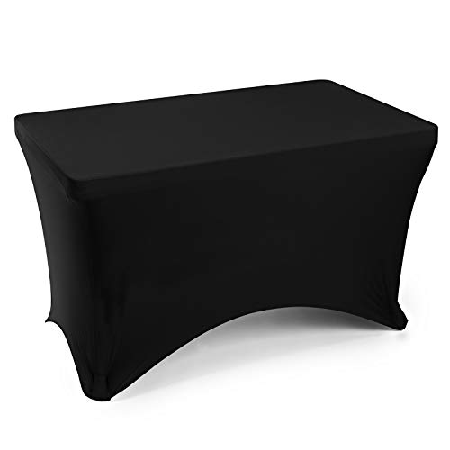 - Lann's Linens - 4' Fitted Stretch Tablecloth for 48