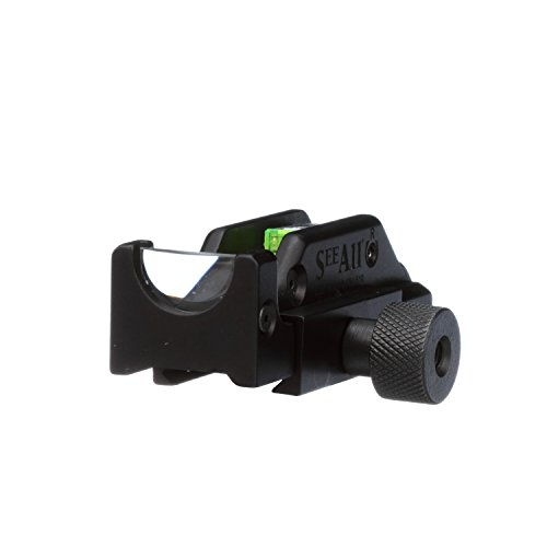 See All Tritium-Lit Gen 2 Open Sight | Tactical Gun Sight Replacement | Ultra Fast Target Acquisition | Picatinny Rail Mount Compatible for Rifle or Shotgun | No Battery Needed (Delta Reticle)