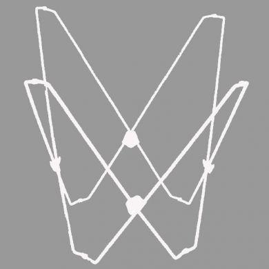 Algoma Chair (Algoma Net Company Butterfly Chair Frame White)