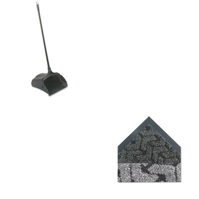 KITCWNTE0035ACRCP253100BK - Value Kit - Anthracite Tire-Track Mat, 3' x 5' (CWNTE0035AC) and Rubbermaid-Black Lobby Pro Upright Dust Pan, Open Style (RCP253100BK) by Crown