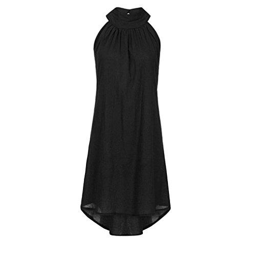 Couleur Bovake de robe pure manches Noir sans Bohmien irrgulire fte Femme Vacances Robe plage Frqa8F