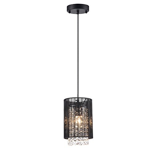 Black Pendant Light With Crystals in US - 2
