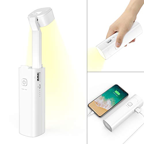 Portable LED Desk Lamp,Klearlook Foldable Cordless Lamp with Rechargeable Battery 5 in 1 Desk Lamp Night Light Emergency Light Power Bank Phone Stand with 3 Lighting Modes,Eye-Care,Energy-Efficient