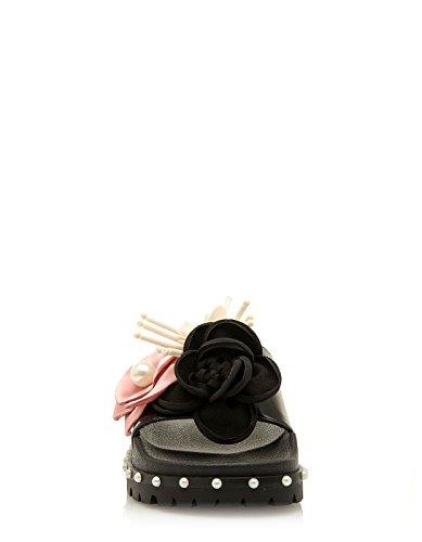 SixtySeven SixtySeven Flower Flat Sandals Flower Flat Black Black Sandals wqz1O6