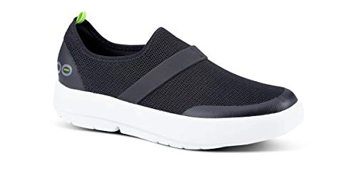 OOFOS - Women's OOmg Shoe - Post Exercise Active Sport Recovery Footwear - White/Black - W11