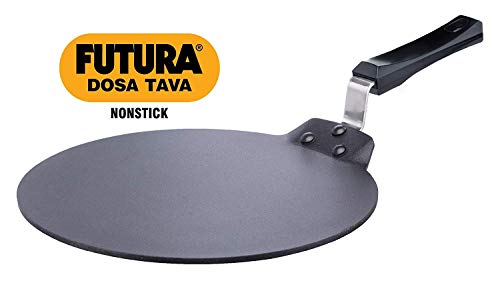 Futura DT30 DT-30 Dosa Tava Nonstick indian, 12-inch, Black