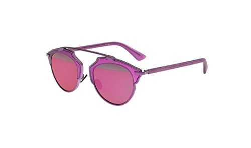 Dior Women DIORSOREAL 57 Purple/Silver Sunglasses - Dior Buy Sunglasses