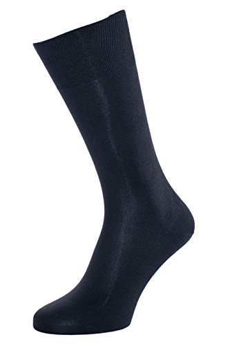ALBERT KREUZ men's luxury business socks of 98% silk Made in Germany navy EU 42-44 / US 9-11