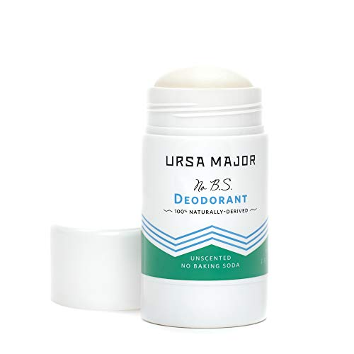Ursa Major Natural Deodorant - No B.S.   Baking Soda-Free, Unscented, Aluminum-Free, Cruelty-Free   Formulated for Men and Women   2.9 ounces from Ursa Major