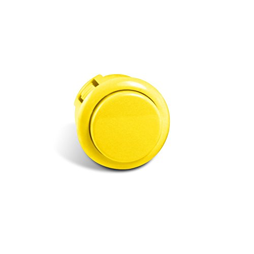 Sanwa OBSF-24 24mm Replacement Arcade Push Button for Mad Catz Fight Sticks - Yellow 1pc