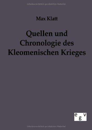 Quellen und Chronologie des Kleomenischen Krieges (German Edition) pdf