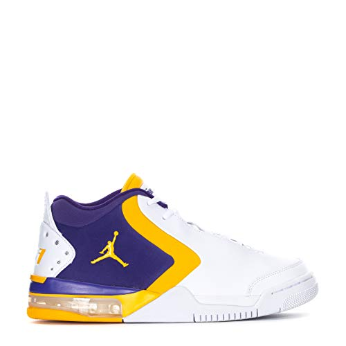 Jordan BV6273-105: Men's White/University Gold-Court Purple Big Fund Sneakers (9.5 D(M) US Men)