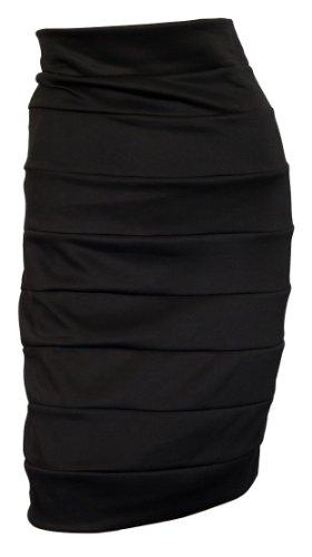 EVogues Plus size Bandage Pull On Pencil Skirt Black - 4X