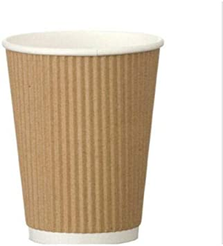 8oz Eco Friendly Thick Kraft Paper Coffee Cup Cafe Hotel
