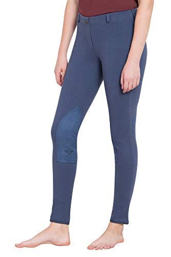 TuffRider Women's Starter Lowrise Pull-On Breech, Denim, ()