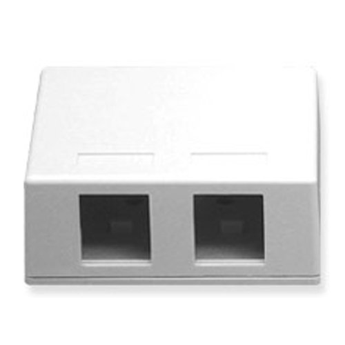 Icc - Ic107sb2wh - Surface Box 2Pt White ''Product Category: Installation Equipment/Wall Jacks/Inserts''
