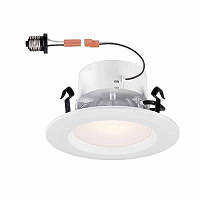 4 in. White Recessed LED Trim