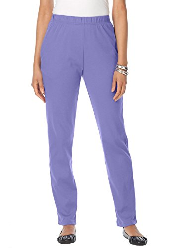 Bargain Catalog Outlet Roamans Plus Size Petite Classic Knit Pants (Dusty Lilac,2X) (Suit Roamans Pant Womens)