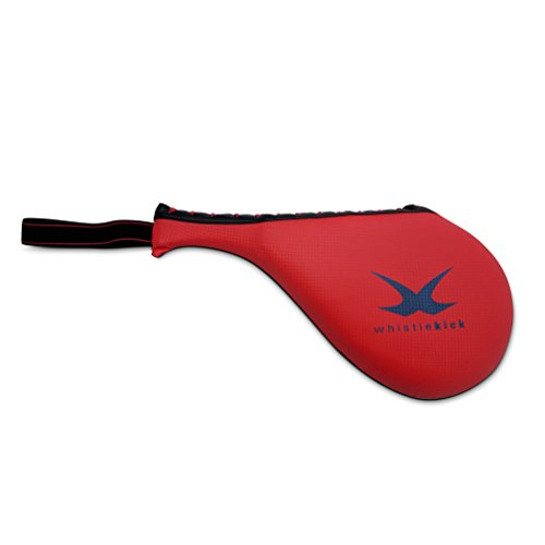 whistlekick KickTarget - Martial Arts Kicking Paddle Target for Karate,Taekwondo,Kungfu,Boxing and Kickboxing Focus Kick Shield (Red/Blue) - Kicking Paddle