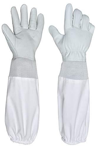 Beaver Beekeeping Gloves, Goatskin With Ventilated Cuffs XL