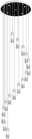 LgoodL Large Chandelier Modern K9 Crystal Pendant Light S Shape Ceiling Lighting