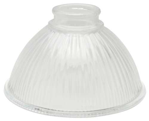 NATIONAL BRAND ALTERNATIVE 2489663 Hyalophane Chandelier Ceiling Fixture Replacement Glass, Clear Ribbed, 6-5/8 In., 2-1/8 In. Fitter, 4per Box - Replacement Chandelier Shades