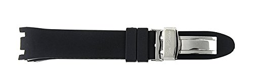 Men Joe Rodeo Master Watch Band Strap Fit All Men Master Model Silver Loop Black