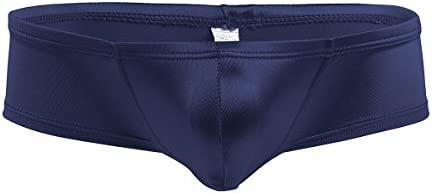 iEFiEL Mens Shiny Cap Cover Bulge Pouch Low Rise Mini Bikini Briefs Lingerie Underwear