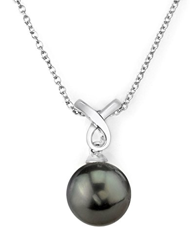 11mm South Sea Pearl Pendant (14K Gold Tahitian South Sea Cultured Pearl Whitney Pendant Necklace)