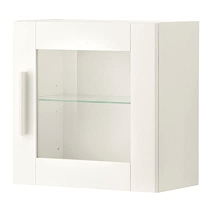 Strange Amazon Com Ikea Wall Cabinet With Glass Door White Size 15 Download Free Architecture Designs Viewormadebymaigaardcom