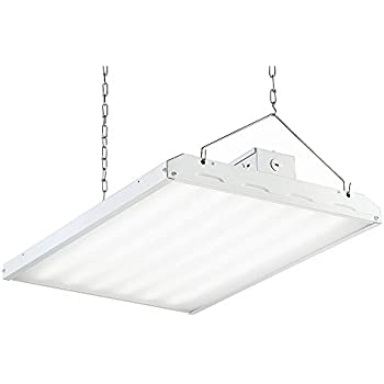 LED HIGH BAY Hanging Light 2 ft - 17,420 Lm, 5000K CCT Replaces 6 Light T8 Fluorescent - ENERGY SAVING - Low Maintenance