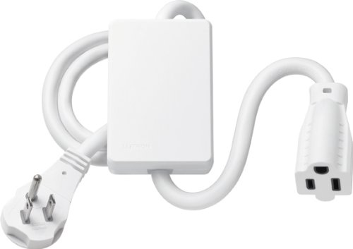 Lutron White Plug-In Appliance Module, 1 Receptacle, 120V, 15 Amp