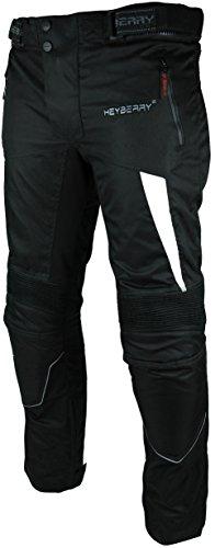 HEYBERRY Motorradhose Textil Schwarz Weiß Gr. L