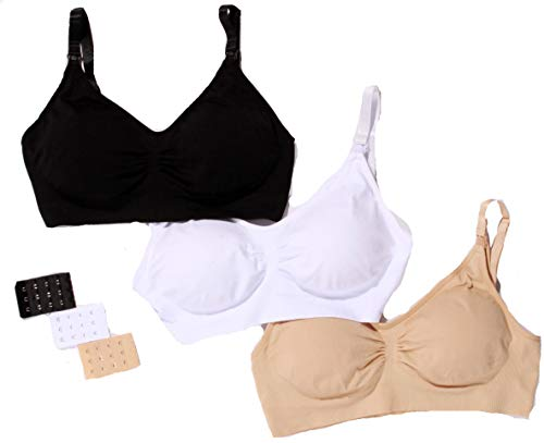 Just Intimates Nursing Bras for Women (Pack of 3) 3P-11141-A-M