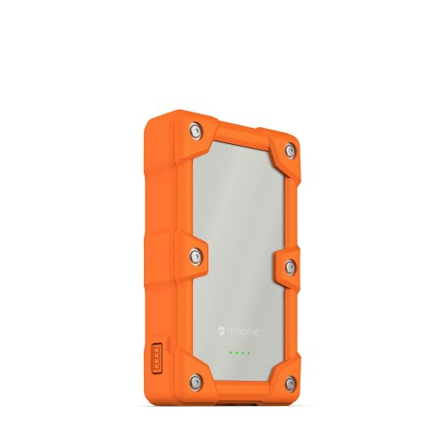mophie Juice Pack Powerstation Pro 6000mAh Ruggedized External Battery for iPhone, iPad , Smartphones and Wearables - Orange 6000 Mah External Battery