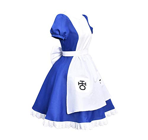 Alice Madness Returns Halloween Costume (Classical City Alice: Madness Returns Cosplay Costume Halloween Dress (M))