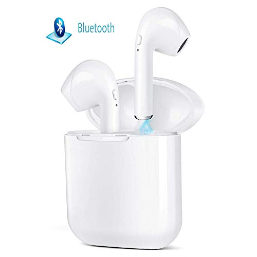 Bluetooth Headphones, Wireless Earbud, Sport Headsets with Noise Cancelling, Outdoor Portable Bluetooth Earphones with Charging Case and Built in Mic