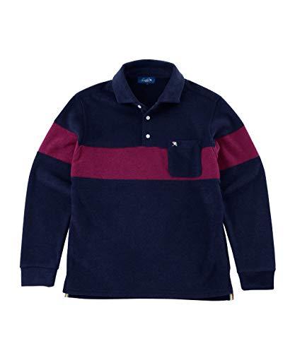アーノルドパーマー ゴルフウェア ポロシャツ 長袖 メンズ カットパイル長袖シャツ AP220202H01 NV L