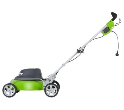 GreenWorks lawn mower can mow lawns that are 1 3/4 inches in height to 3 3/4 inches