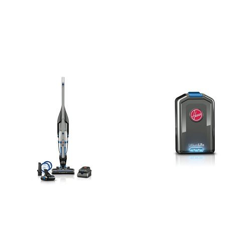 HOOVER Vacuum Cleaner Air Cordless 20 Volt Lithium Ion 2-in-1 Deluxe Stick and Handheld Vacuum BH52120PC with Compact LithiumLife Battery BH03100PC