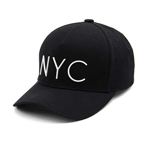 Flipper Minimal NYC Logo New York City 5 Panels Baseball Ball Cap Adjustable Cotton Hat for Men Women (Black)