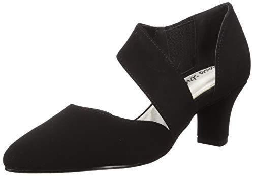 Easy Street Women's Dashing Dress Shoe Pump, Black Suede, 9 M US